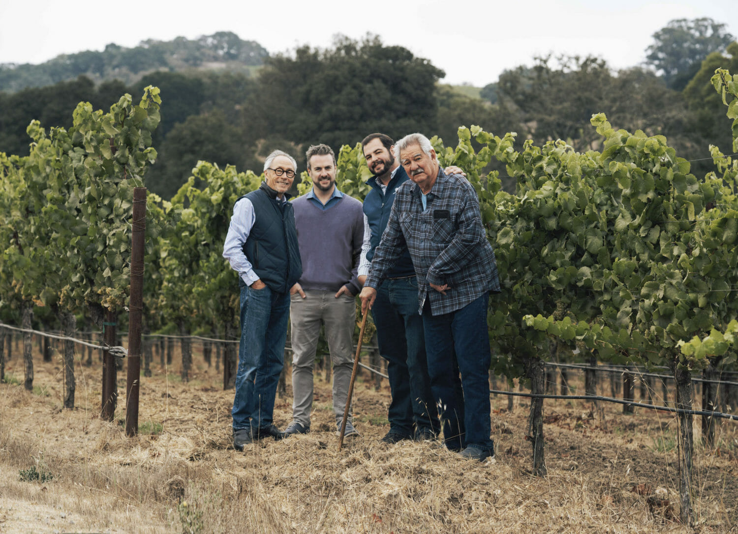 Hyde vineyard with Chris Hyde and others