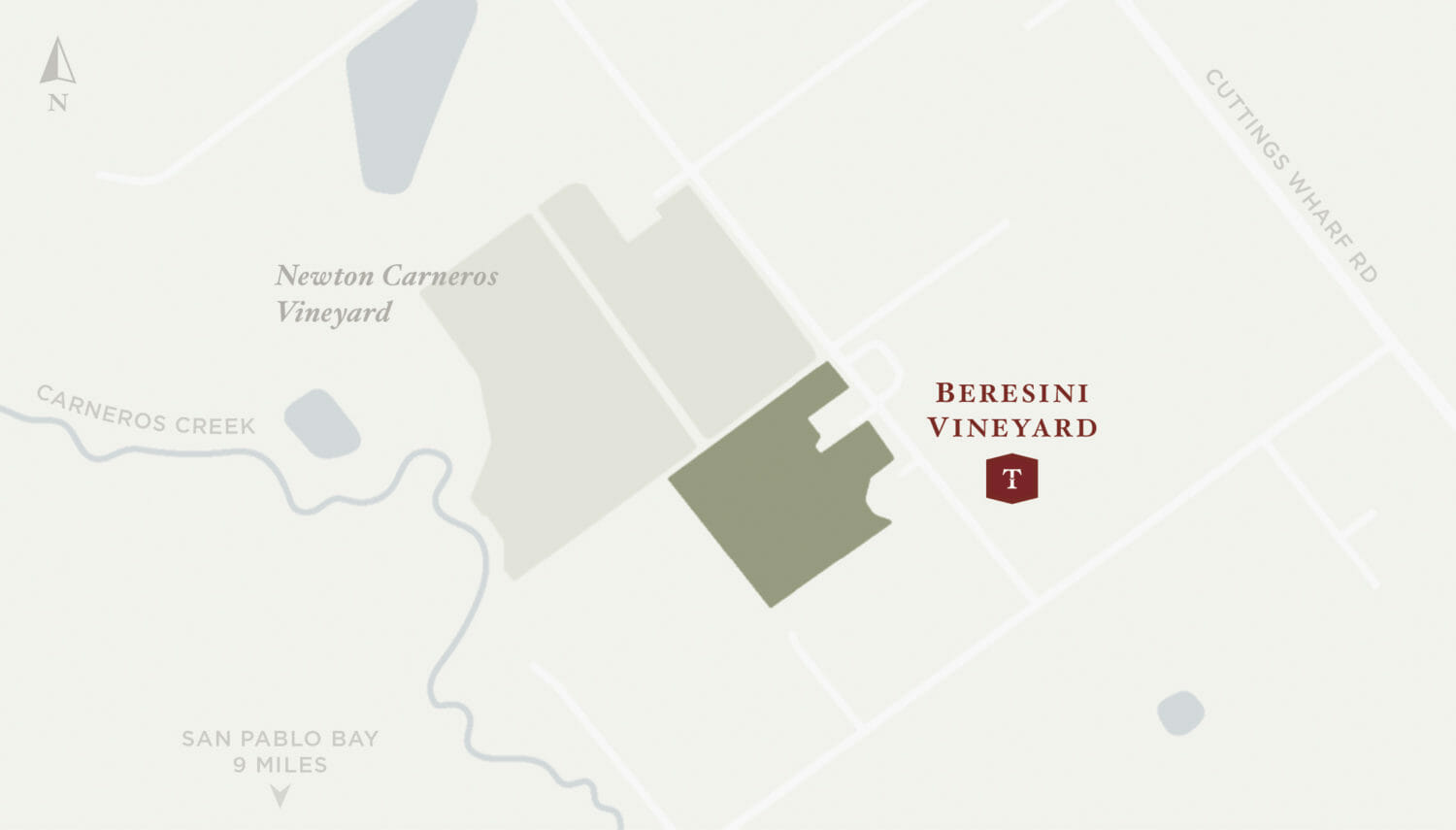Beresini Vineyard Map
