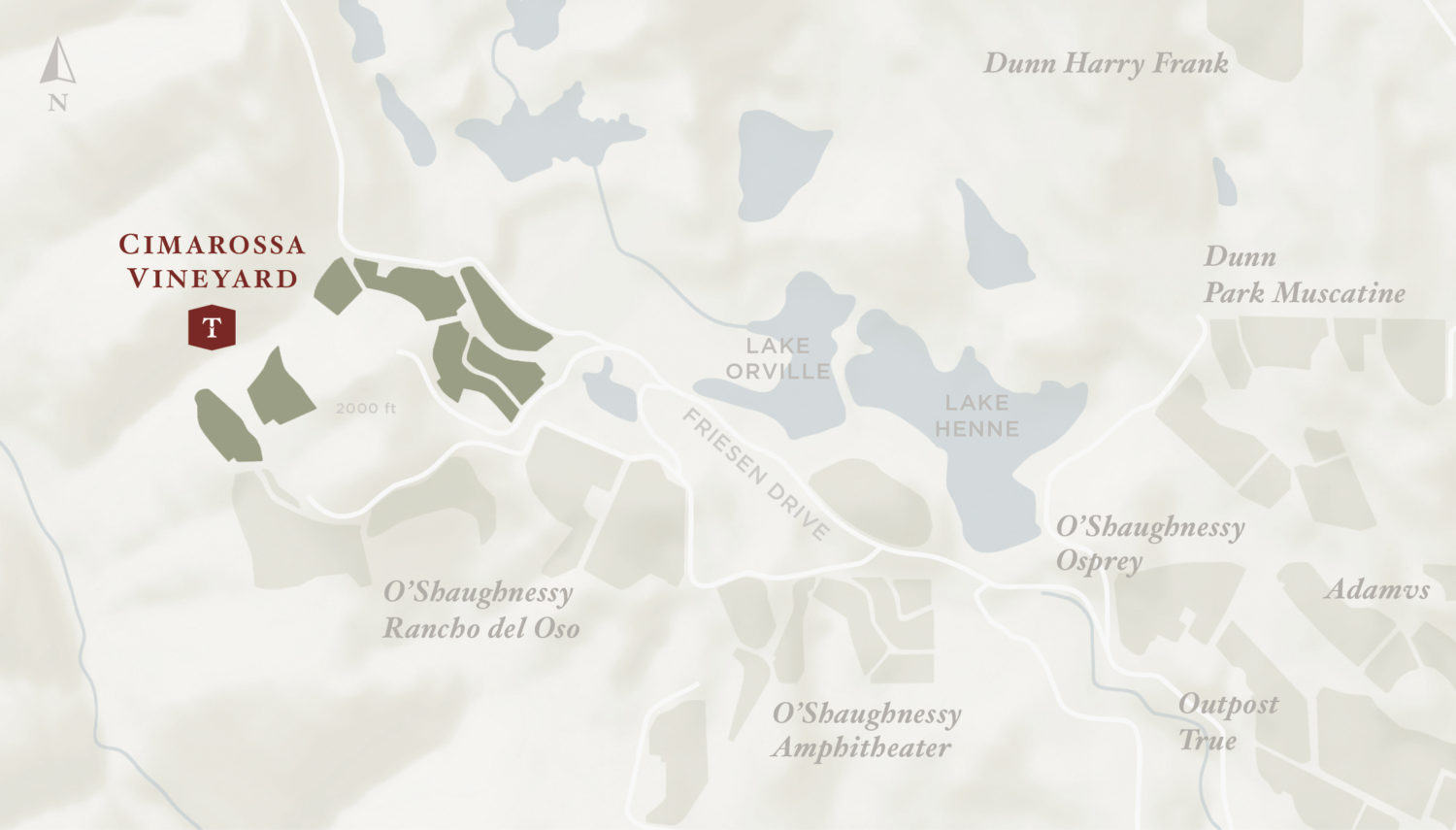 Cimarossa Vineyard Map