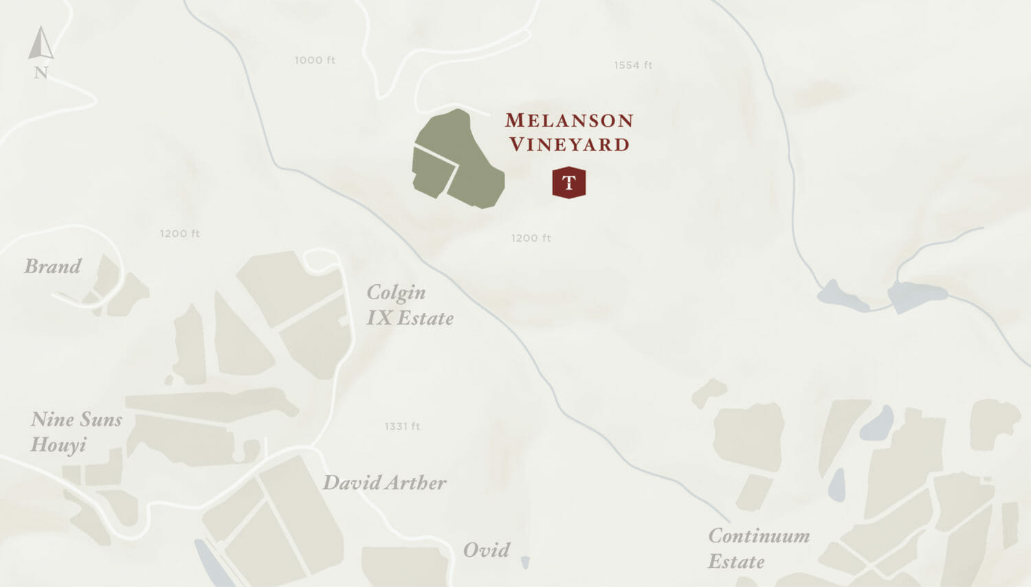 Melanson Vineyard Map