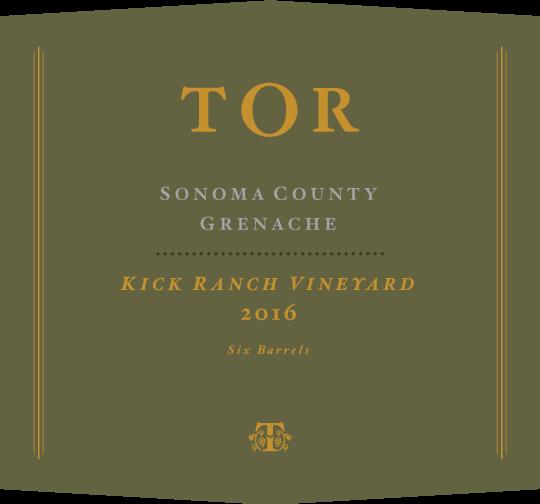 2016 Grenache Kick Ranch Vineyard label